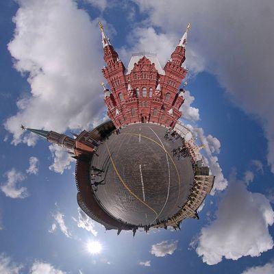 Moskau - Historisches Museum am Roten Platz