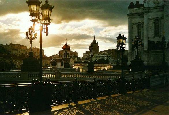Moskau im Gegenlicht