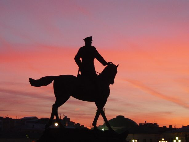 Moskau Reiterstandbild