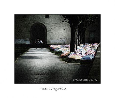 """Mostra online di Antonio Peschiulli """"Bergamo Alta"""" - 2. Porta Sant'Agostino"""