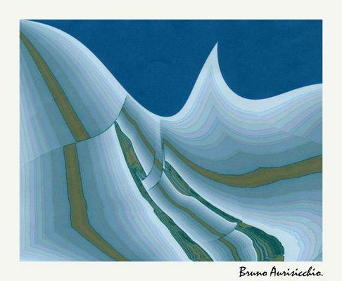 """Mostra online di Bruno Aurisicchio: """"Il mare"""" - 10. La sfida delle onde"""