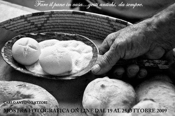 """Mostra online di Carlo Atzori """"Fare il pane in casa"""""""