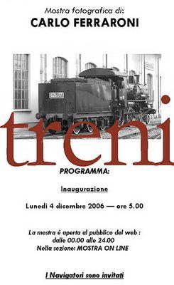 Mostra online di Carlo Ferraroni: Treni