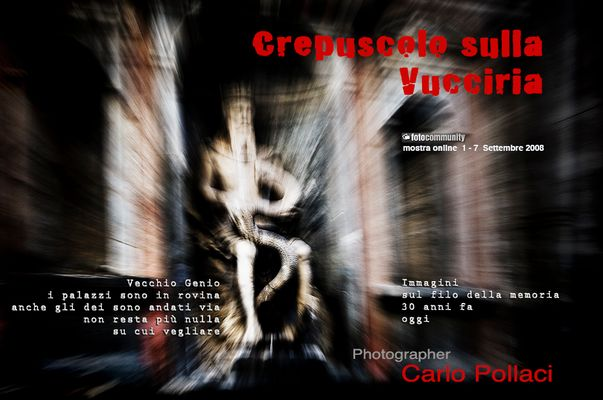 """Mostra online di Carlo Pollaci: """"Crepuscolo sulla Vucciria"""""""