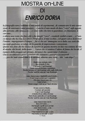 Mostra online di Enrico Doria - Locandina