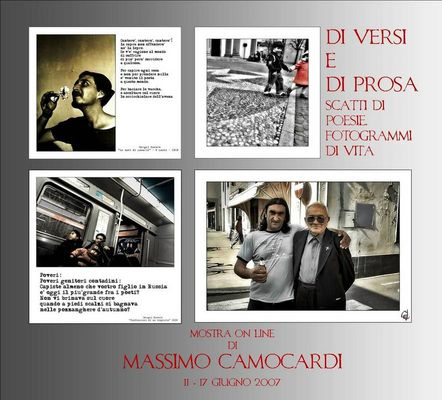 """Mostra online di Massimo Camocardi: """"Di versi e di prosa: scatti di poesie, fotogrammi di vita"""""""