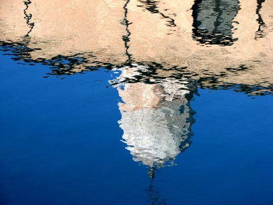 """Mostra online di Maureen Ross """"Chioggia allo specchio"""" - 2. Chiesa e campanile del duomo"""
