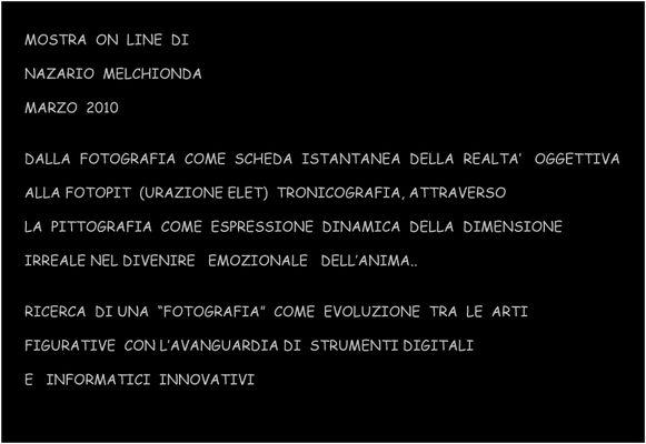 """Mostra online di Nazario Melchionda: """"La pittografia"""""""