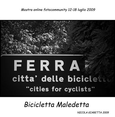 """Mostra online di Nicola Giaretta """"Bicicletta Maledetta"""" - 1."""
