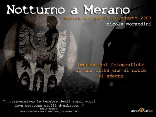 """Mostra online di Nicola Morandini: """"Notturno a Merano"""""""