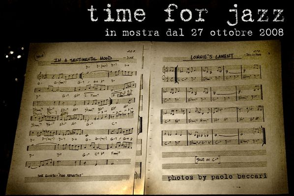 "Mostra online di Paolo Beccari: ""Time for jazz"""