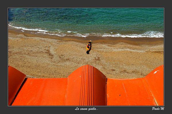 """Mostra online di Paolo Mugnai: """"Un giorno all'isola d'Elba"""" - 4. La canoa gialla"""