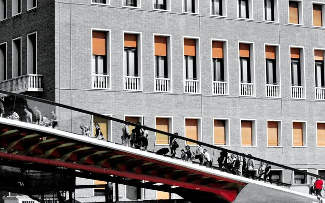"""Mostra online di Salvatore Orfino """"Venezia nel cuore"""" - 9. Il ponte di Calatrava - Dettaglio"""