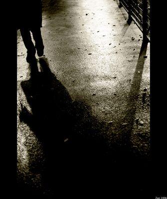 Mostra online di Salvo Zannelli: Parigi - 9. Passi nella Notte