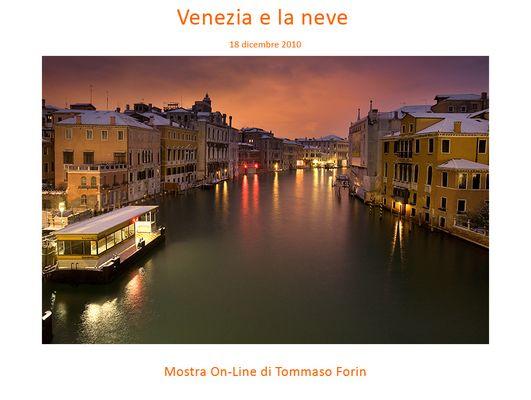 """Mostra online di Tommaso Forin """"Venezia e la neve"""""""