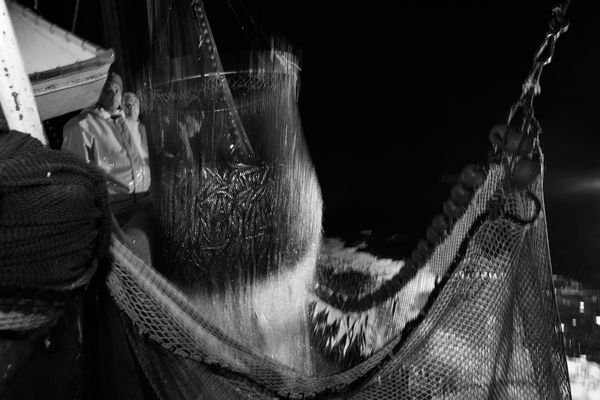 """Mostra online di Uta Theile """"L'arte della pesca nelle Cinque Terre"""" - 5. Il salaio"""