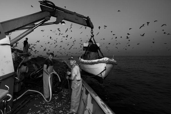 """Mostra online di Uta Theile """"L'arte della pesca nelle Cinque Terre"""" - 6. Issare il battello"""