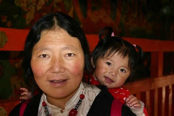 Mother and Child in the Jokhang Temple