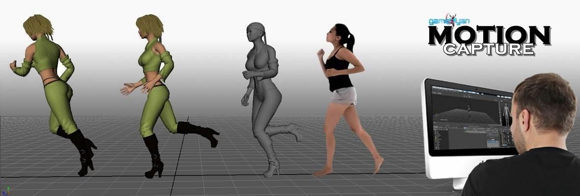 motion capture animazioni in studio