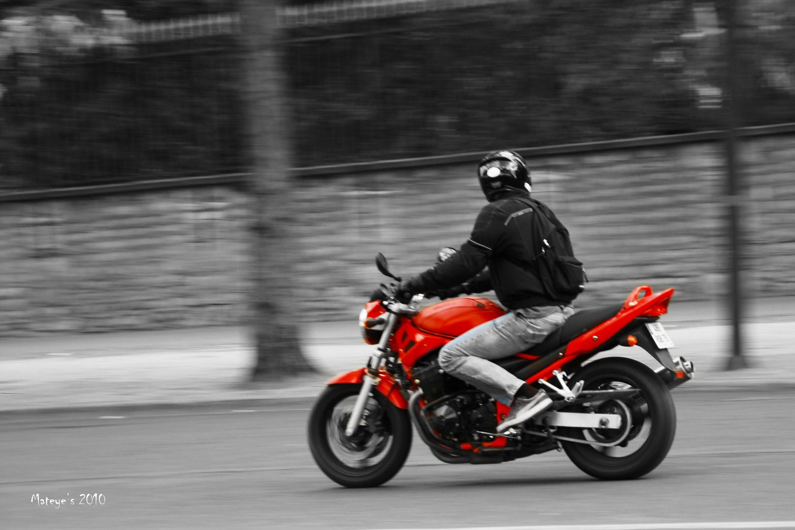 Moto dans paris