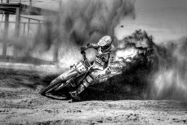 Motocross in black &white