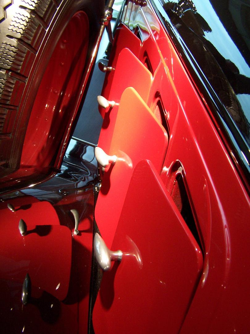 Motor Lüftungsklappen an einem Audi Oldtimer