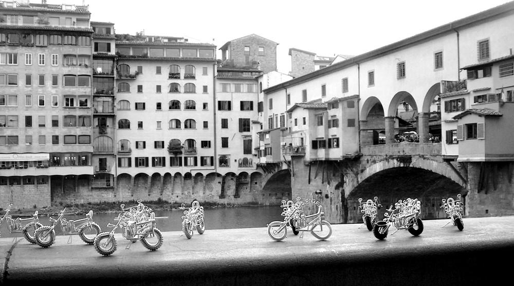 Motoraduno al Ponte Vecchio