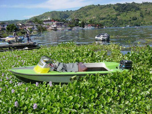 Motorboot Lake Toba, Sumatra