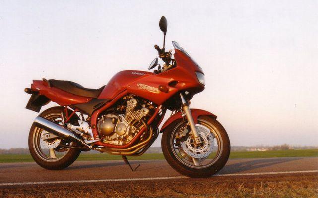 Motorrad am Morgen
