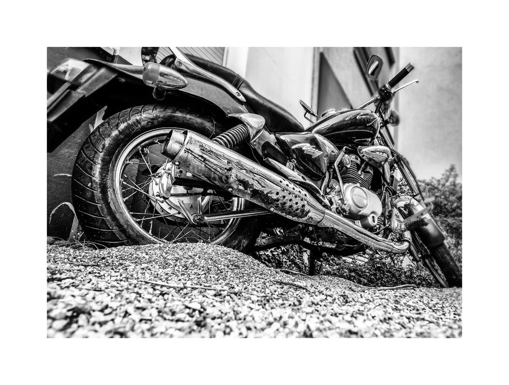 Motorrad an der Messe Basel