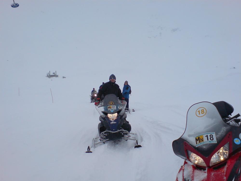 Motorrad im Winter 2
