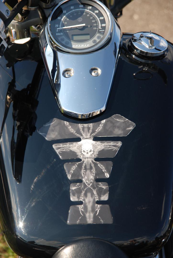 Motorrad Tankdetail