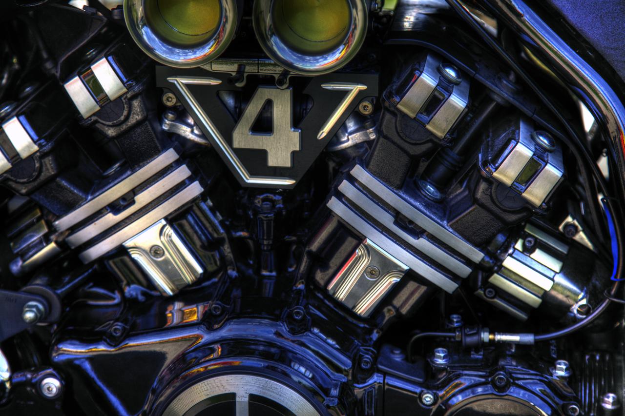 Motorrad und sein Motor Detail