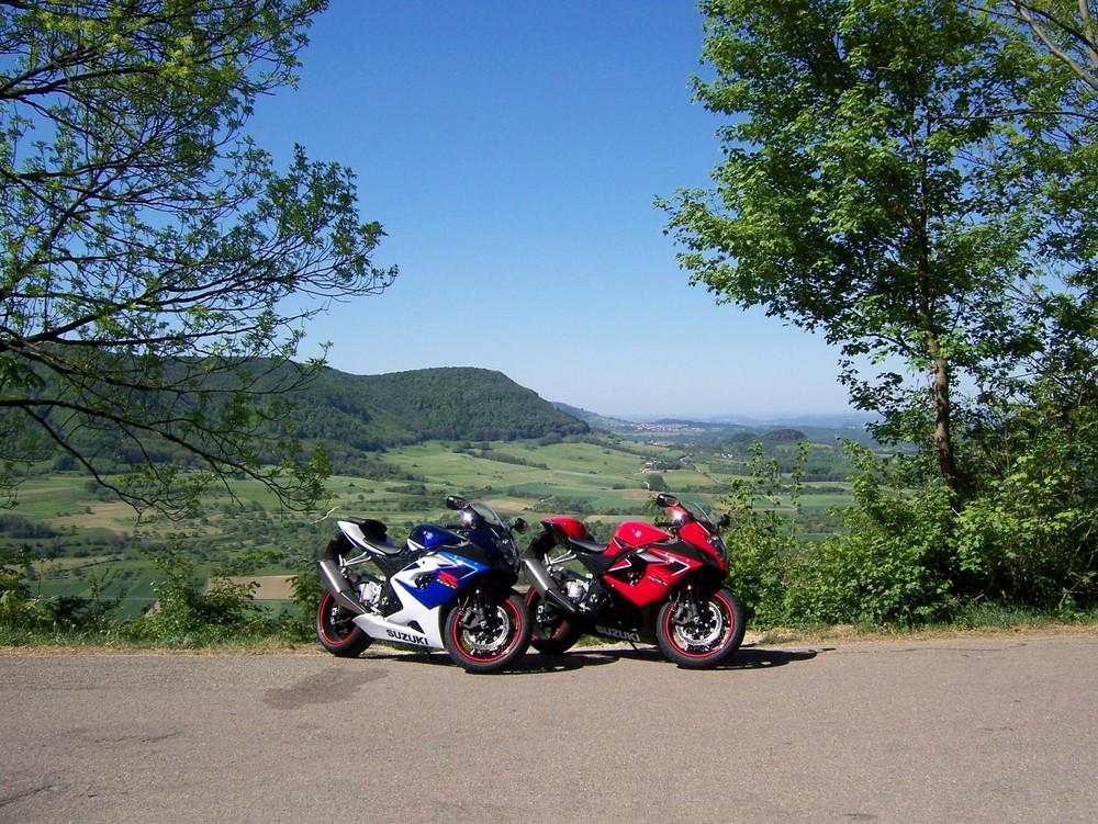 Motorradtour, auf der Teck
