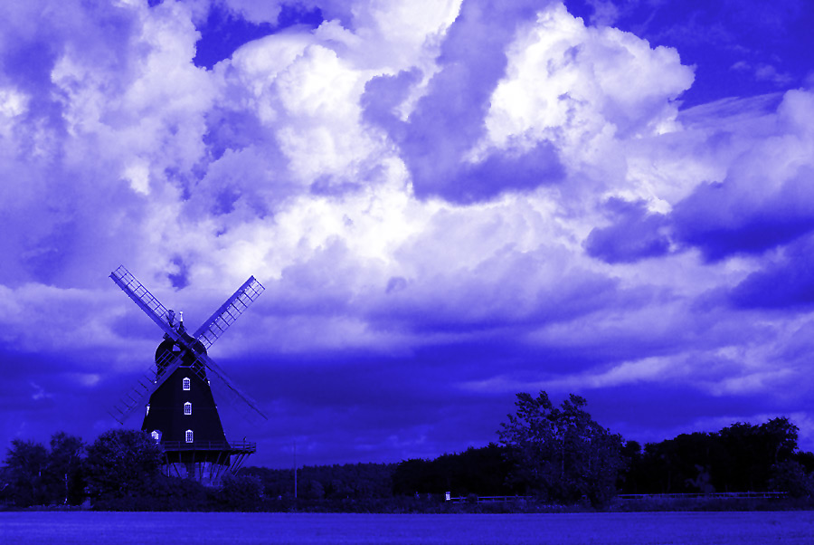Moulin bleu