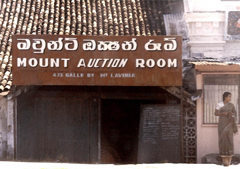 Mount Auction Room Galle Road Columbo 1976
