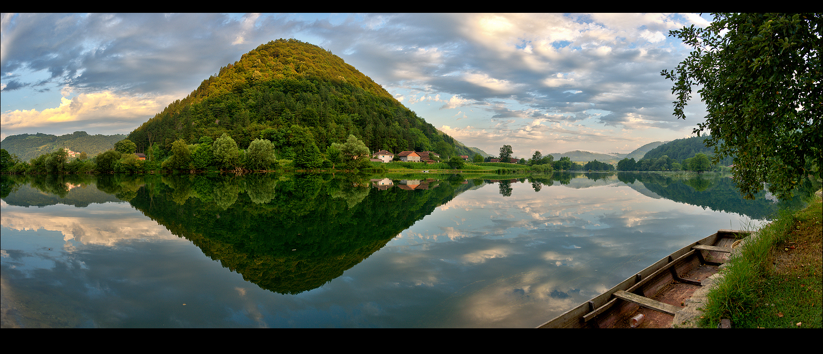 Mountain Plavno & River Una.....Reflections in the Morning...