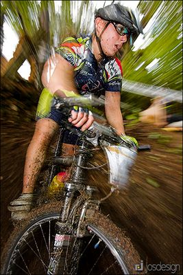 Mountainbike-Action