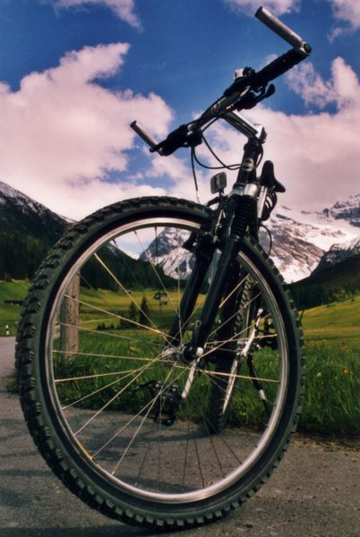 Mountainbike in den mountains