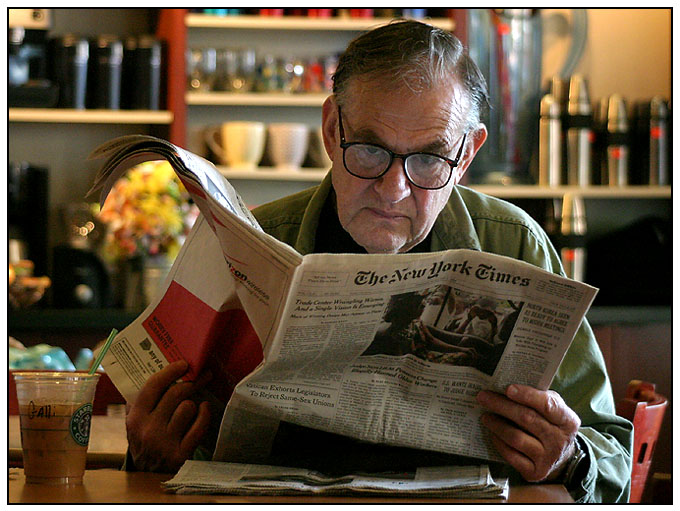 Mr. Gatti enjoys his afternoon at Starbucks!