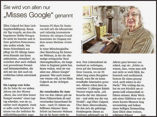 Mrs. Google - eine wahre Geschichte