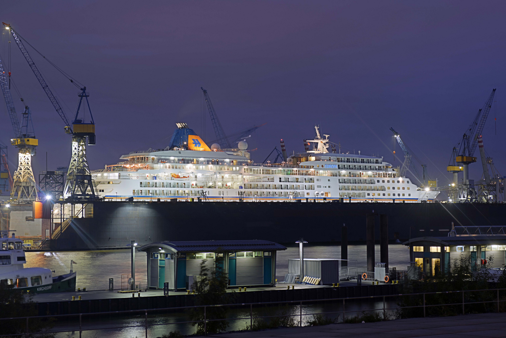 MS Europa during her stay at Blohm+Voss