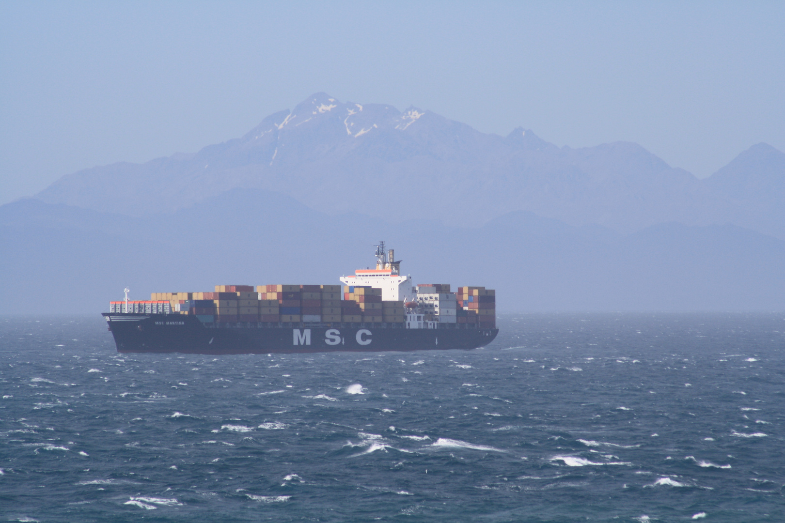 MSC Martina in der Cook-Strait