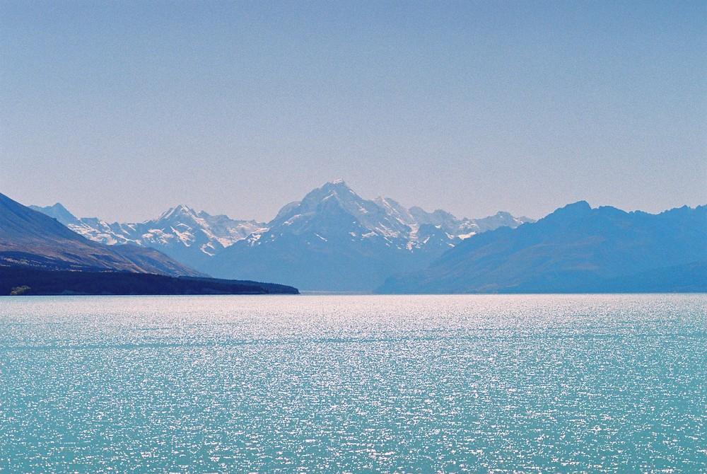 Mt. Cook Gletscher in Neuseeland