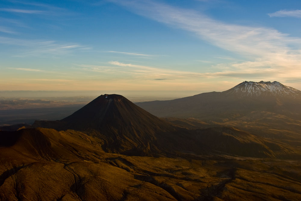 Mt-Ngauruhoe Scenic Flight in Sunset