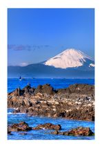 MT.Fuji seen in the sea over
