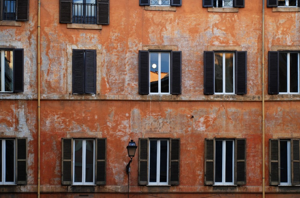 Muchas ventanas de Roma