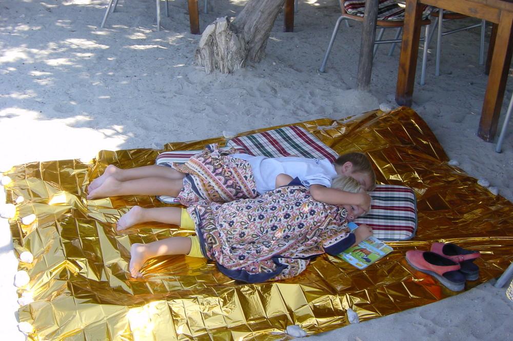 müde an der Cala Jondal auf Ibiza