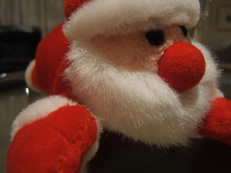 Müder Weihnachtsmann / Frohe Weihnachten