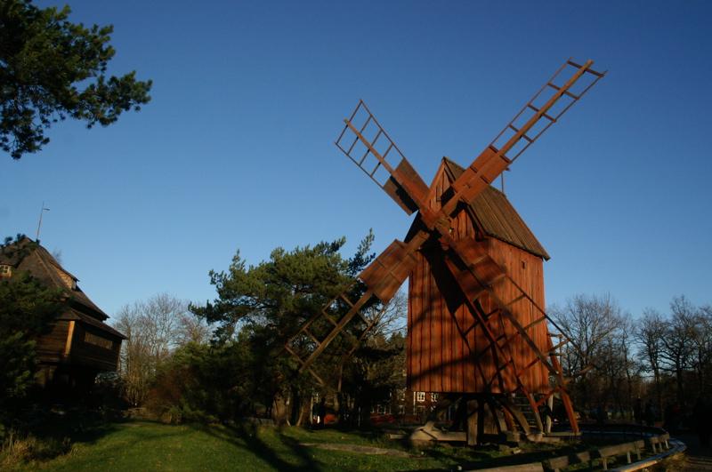 Mühle auf Skansen (Stockholm)